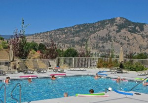 Swim classes in the heated pool
